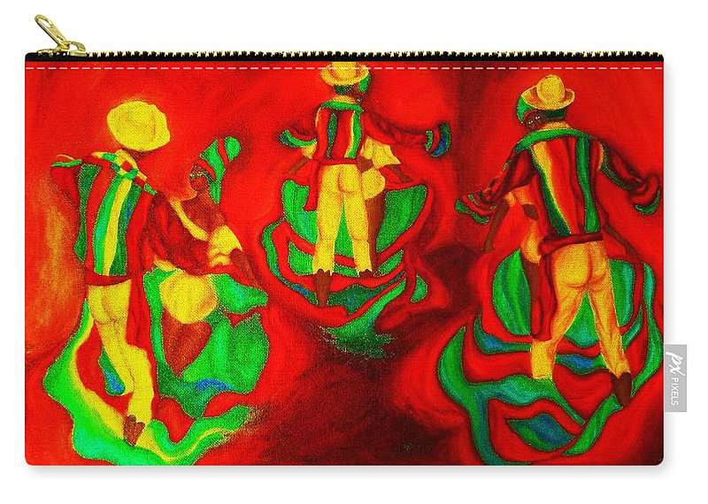 Africa Carry-all Pouch featuring the painting African Dancers by Carole Spandau