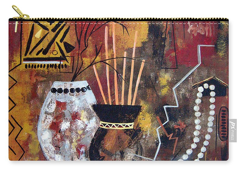 Abstract Carry-all Pouch featuring the painting African Perspective by Ruth Palmer