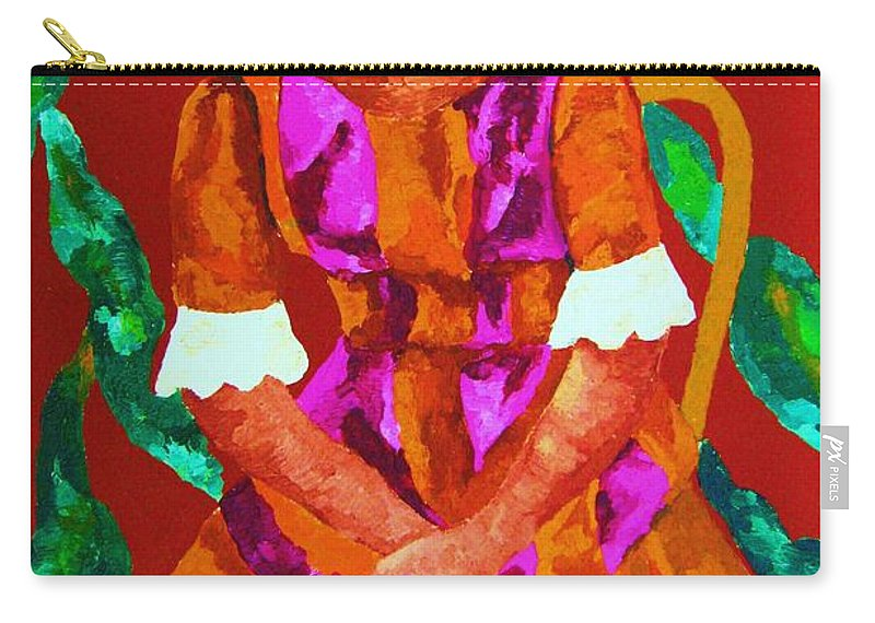 African Princess Carry-all Pouch featuring the painting African Princess by Carole Spandau