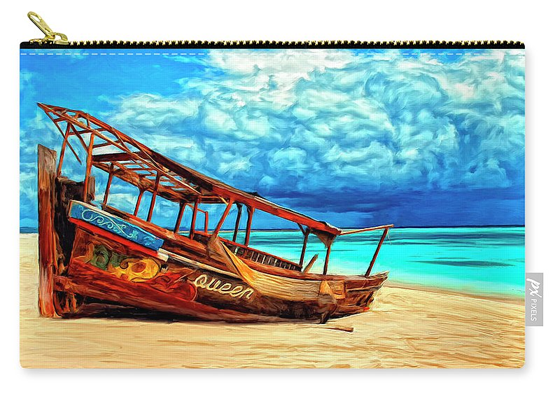 African Queen Carry-all Pouch featuring the painting African Queen by Dominic Piperata