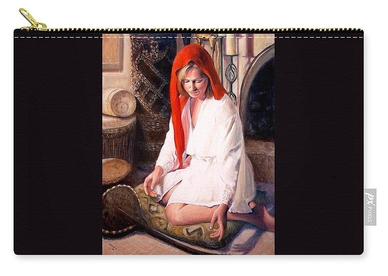 Realism Carry-all Pouch featuring the painting African Strings 4 by Donelli DiMaria