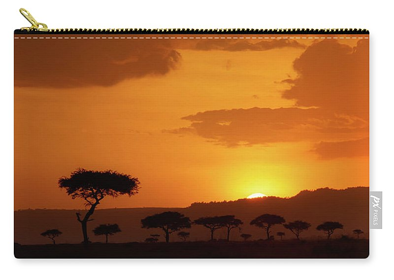 Africa Carry-all Pouch featuring the photograph African Sunrise by Sebastian Musial