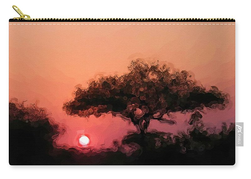 Digital Photography Carry-all Pouch featuring the photograph African Sunset by David Lane