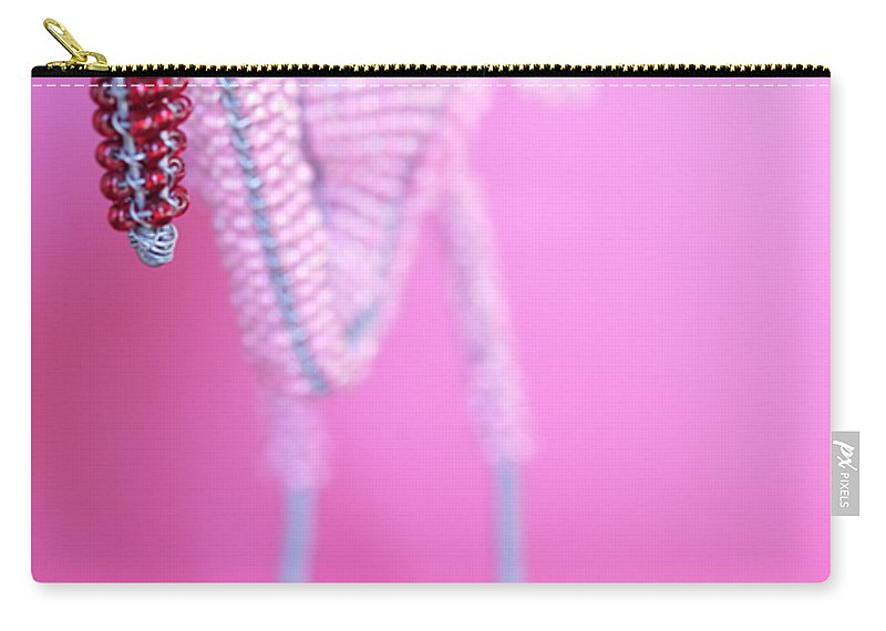 Flamingo Carry-all Pouch featuring the photograph African Wire Flamingo by Neil Overy