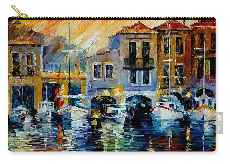 Afremov Carry-all Pouch featuring the painting After A Day's Work by Leonid Afremov