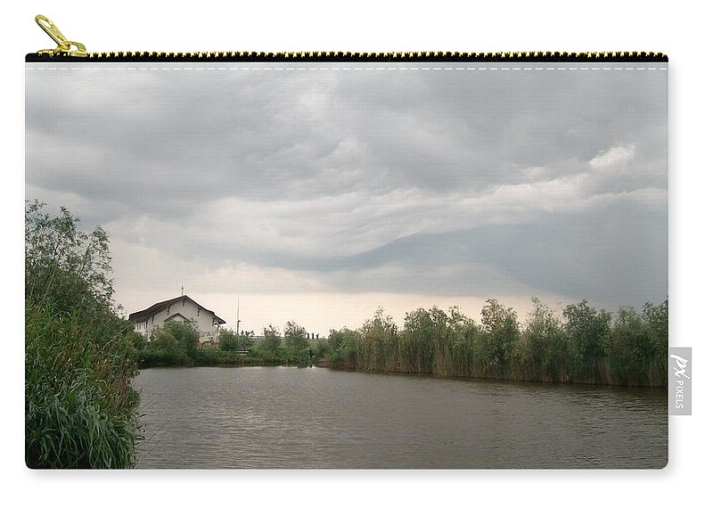 Landscape Photo Carry-all Pouch featuring the photograph After A Rainy Day In Danube Delta by Georgeta Blanaru