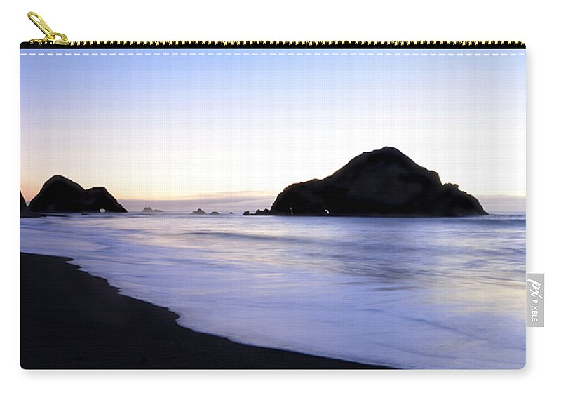 Elk Beach Carry-all Pouch featuring the photograph After Glow At Elk Beach 1 by Bob Christopher