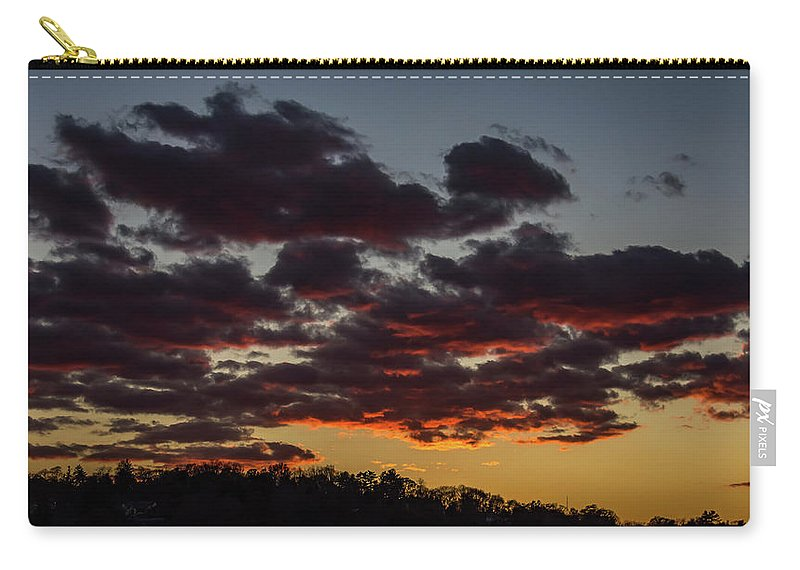 Sundown Carry-all Pouch featuring the photograph After Glow by Kevin Myron