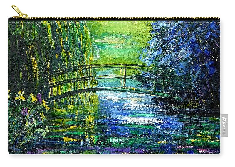 Pond Carry-all Pouch featuring the painting After Monet by Pol Ledent