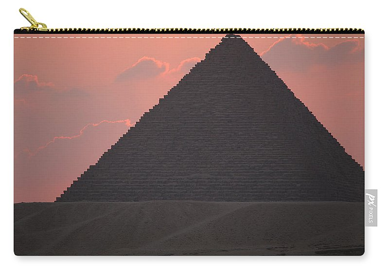 Pyramid Carry-all Pouch featuring the photograph After Sundown by Donna Corless