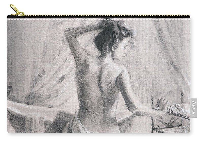 Bath Carry-all Pouch featuring the painting After the Bath by Steve Henderson