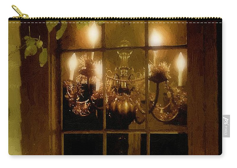 Window Carry-all Pouch featuring the painting After The Feast by RC DeWinter