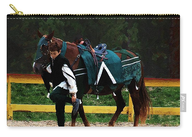 Horse Carry-all Pouch featuring the painting After The Joust by RC DeWinter