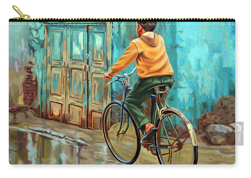 Realism Carry-all Pouch featuring the painting After The Rain by Ahmed Bayomi