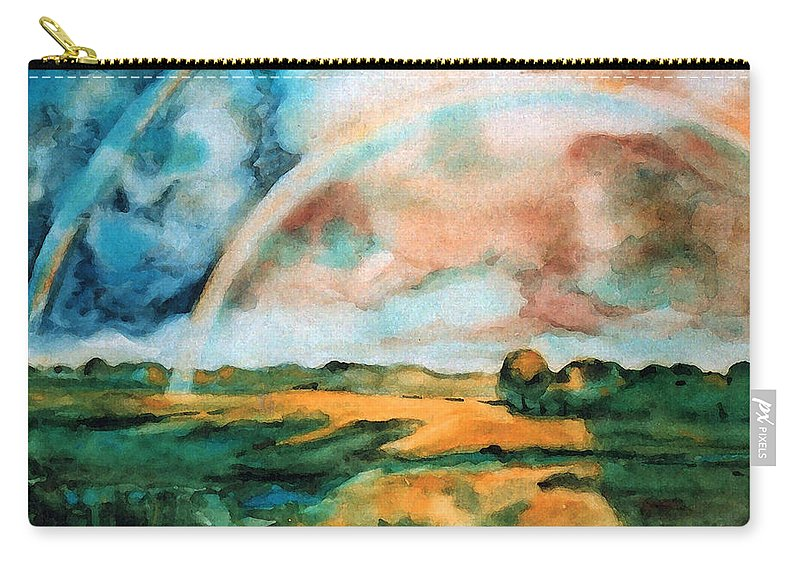Landscape Carry-all Pouch featuring the painting After The Rain by Iliyan Bozhanov