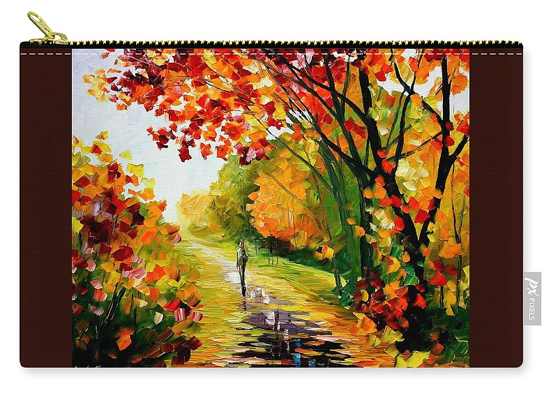 Afremov Carry-all Pouch featuring the painting After The Rain by Leonid Afremov