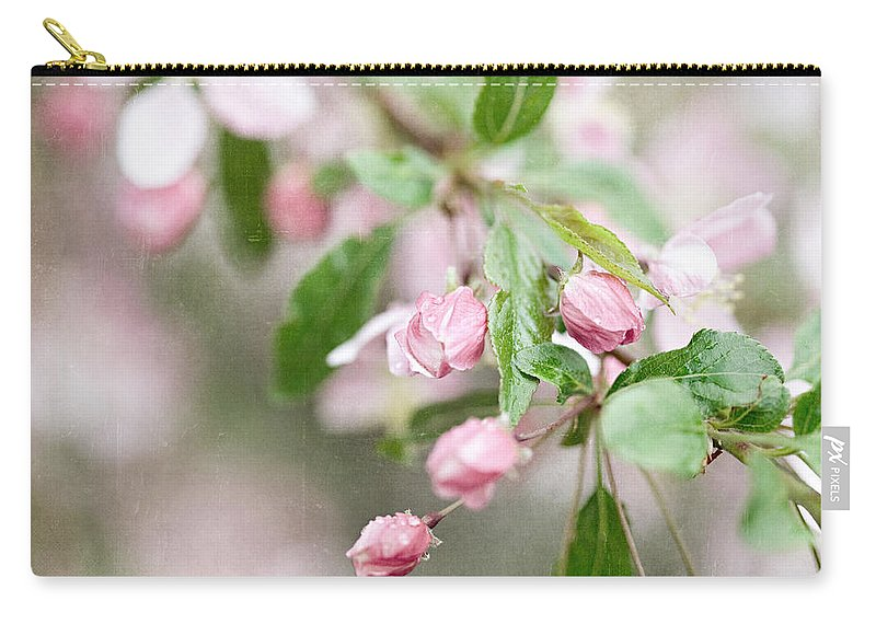 Cherry Blossom Carry-all Pouch featuring the photograph After The Rain by Lisa Russo