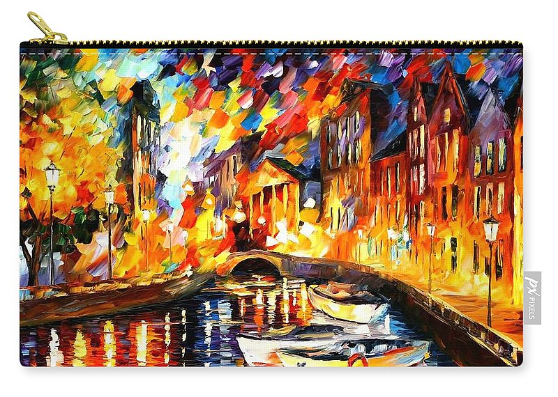 Afremov Carry-all Pouch featuring the painting After The River Turns by Leonid Afremov