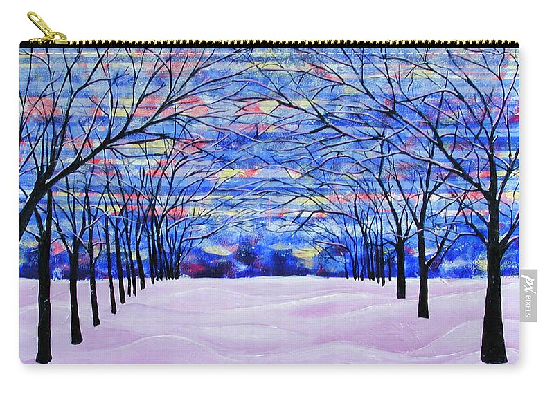 Landscape Carry-all Pouch featuring the painting After The Snow by Rollin Kocsis
