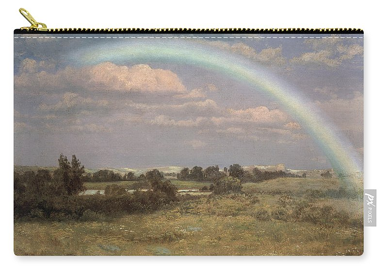 After The Storm Carry-all Pouch featuring the painting After The Storm by Albert Bierstadt
