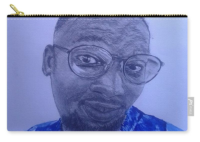 Portrait Carry-all Pouch featuring the drawing After The Storm by Kabelo Letsweni