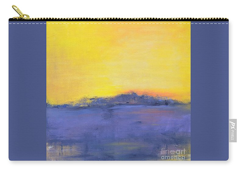 Storm Carry-all Pouch featuring the painting After The Storm by Patricia Caldwell