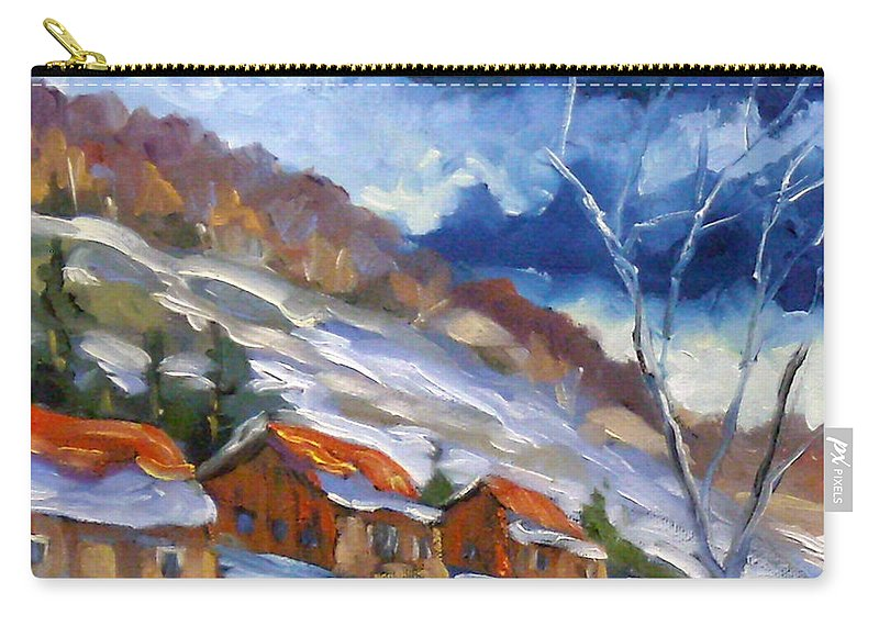 Art Carry-all Pouch featuring the painting After The Storm by Richard T Pranke