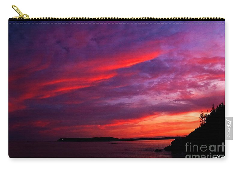 Sunset Carry-all Pouch featuring the photograph After The Storm Sunset by Alana Ranney