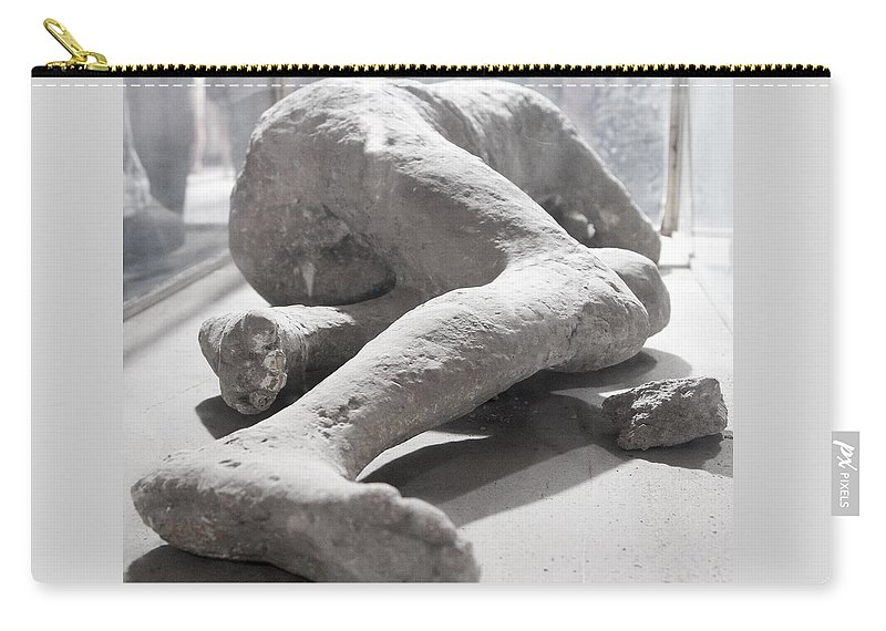Pompeii Carry-all Pouch featuring the photograph Aftermath Of Mount Vesuvius by Allan Levin