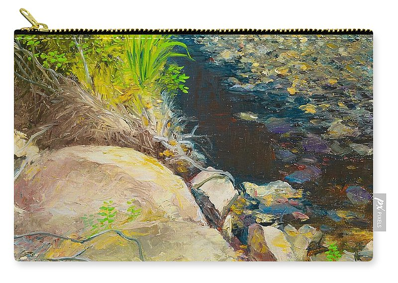 River Carry-all Pouch featuring the painting Afternoon Beside The Lane Cove River by Dai Wynn