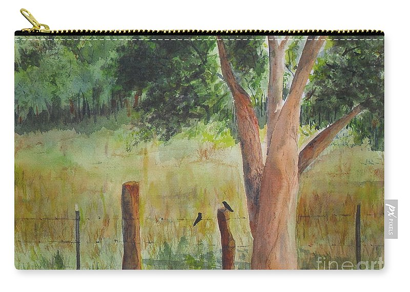 Landscape Carry-all Pouch featuring the painting Afternoon Chat by Vicki Housel