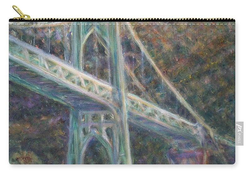 Quin Sweetman Carry-all Pouch featuring the painting Afternoon Glow On The St Johns by Quin Sweetman