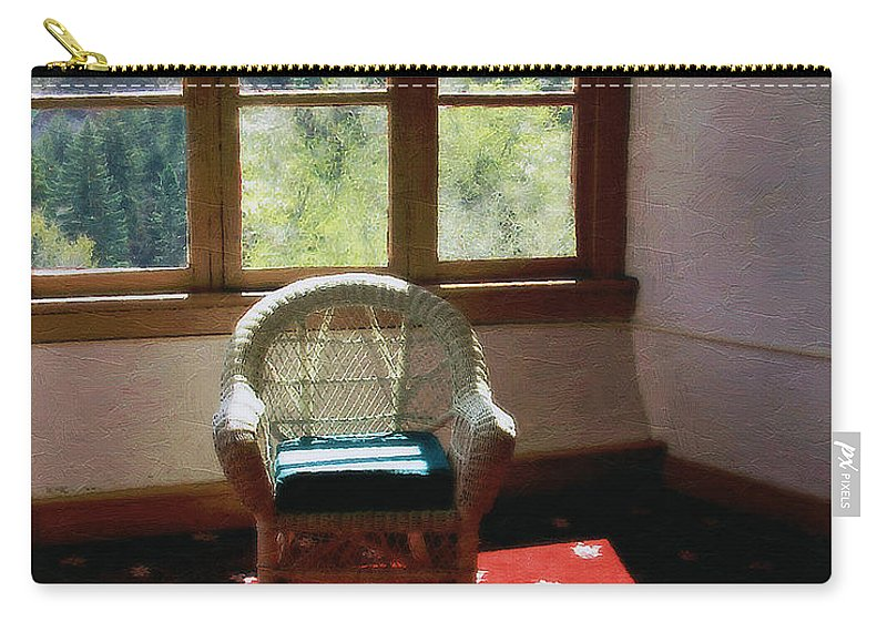 Antiques Carry-all Pouch featuring the painting Afternoon In The Solarium by RC DeWinter