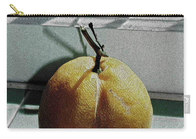 Lemon Carry-all Pouch featuring the photograph Afternoon Lemon by Gwyn Newcombe