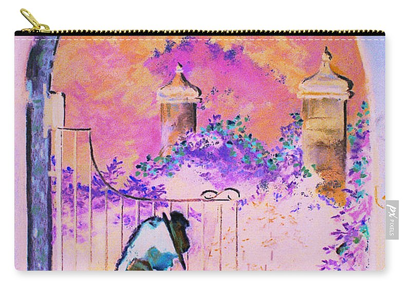 Rose Carry-all Pouch featuring the painting Afternoon Stroll by Jean Hildebrant