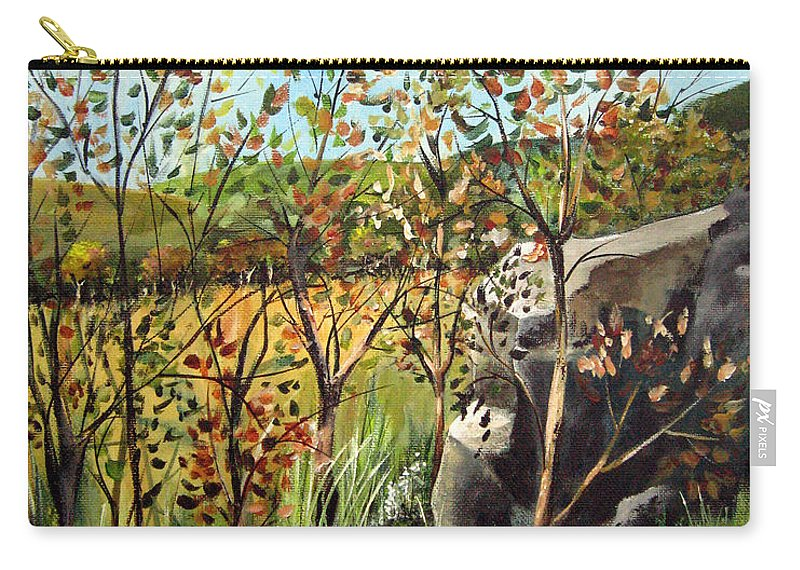 Carry-all Pouch featuring the painting Afternoon Stroll by Ruth Palmer