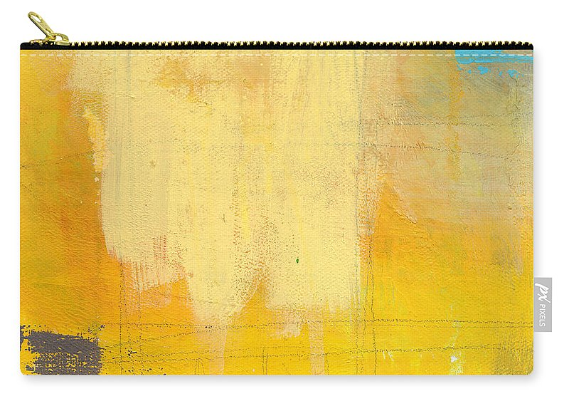 Abstract Carry-all Pouch featuring the painting Afternoon Sun -Large by Linda Woods