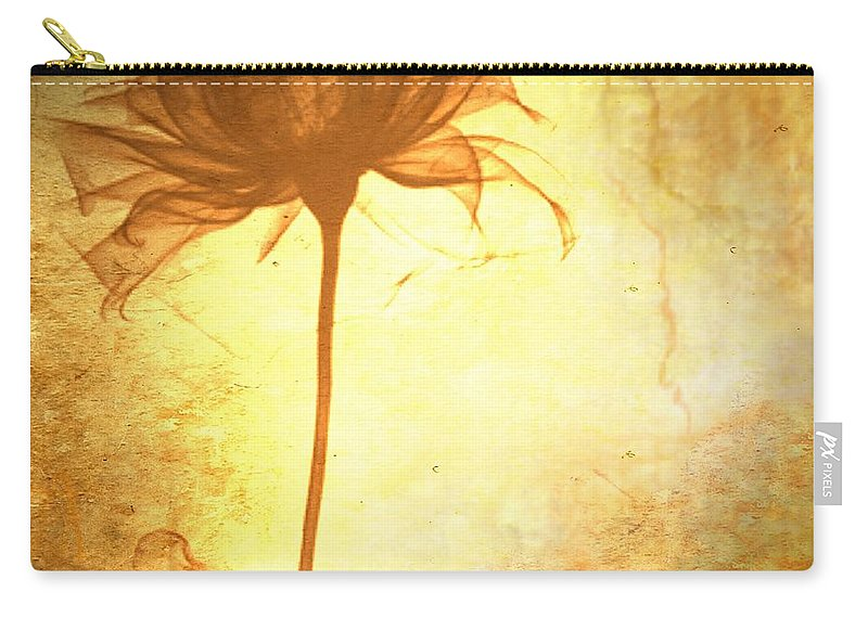 Flower Carry-all Pouch featuring the painting Against All Odds by Jacky Gerritsen