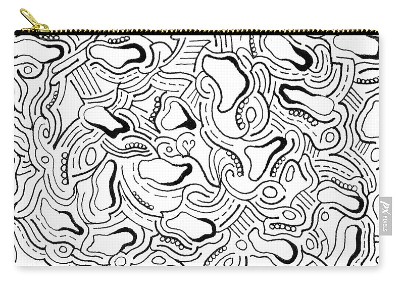 Mazes Carry-all Pouch featuring the drawing Against The Grain by Steven Natanson
