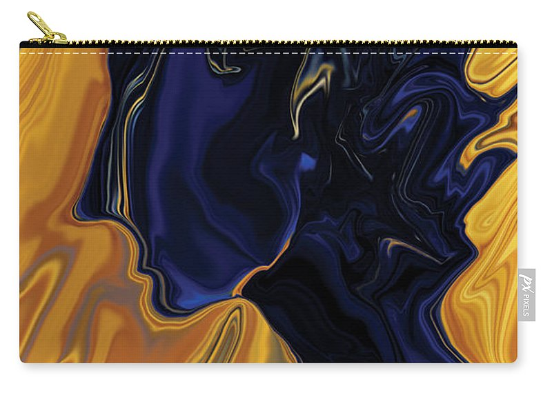 Abstract Carry-all Pouch featuring the digital art Against The Wind by Rabi Khan