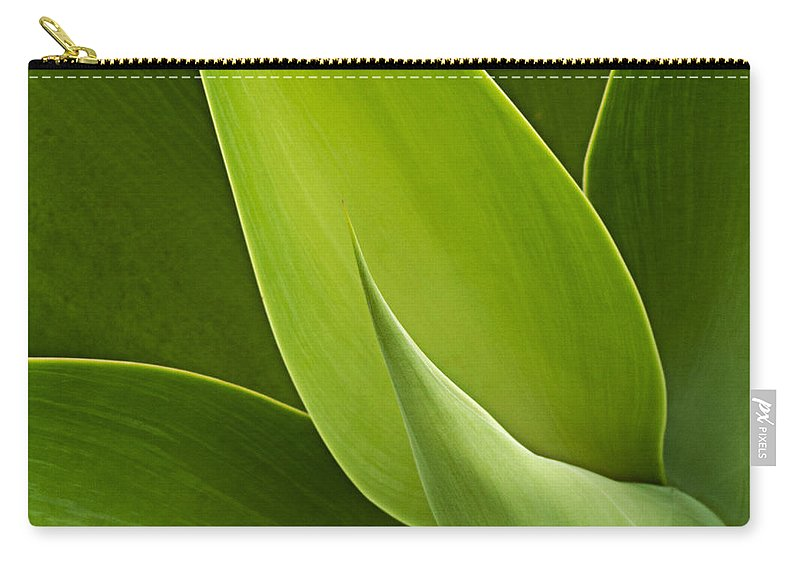 Green Carry-all Pouch featuring the photograph Agave by Heiko Koehrer-Wagner