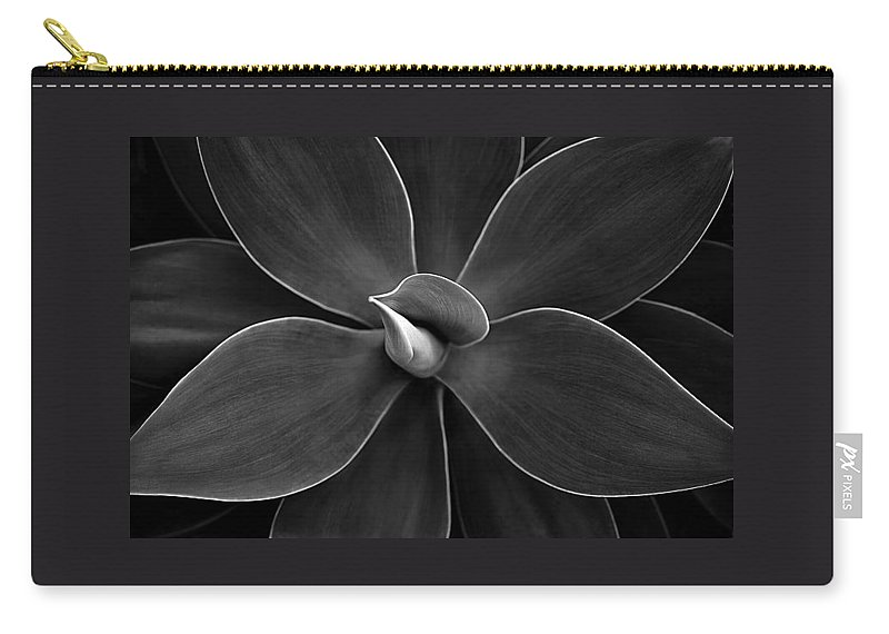 Agave Carry-all Pouch featuring the photograph Agave Leaves Detail by Marilyn Hunt