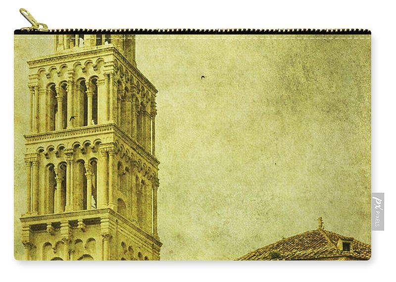 Split Carry-all Pouch featuring the photograph Ages Past by Andrew Paranavitana