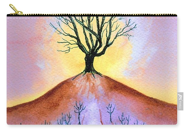 Watercolor Carry-all Pouch featuring the painting Aglow by Brenda Owen