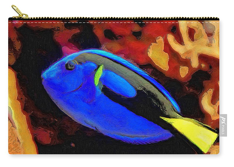 Fish Carry-all Pouch featuring the painting Agnes by Dominic Piperata