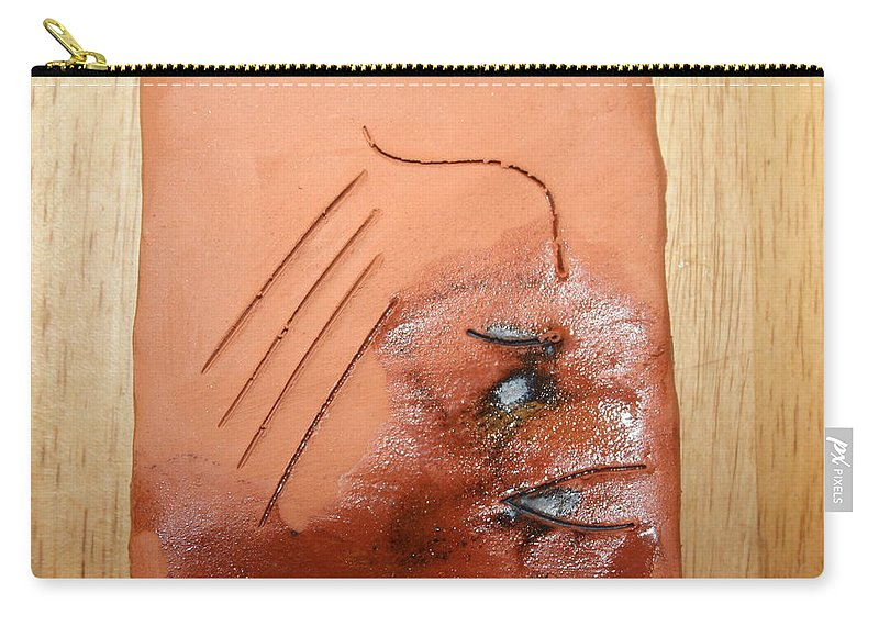 Jesus Carry-all Pouch featuring the ceramic art Agonise - Tile by Gloria Ssali