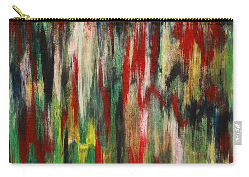 Abstract Carry-all Pouch featuring the painting Agony by Jacqueline Athmann