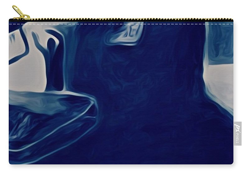 Depression Carry-all Pouch featuring the mixed media Agony Of The Outside World 2 by Paulo Guimaraes