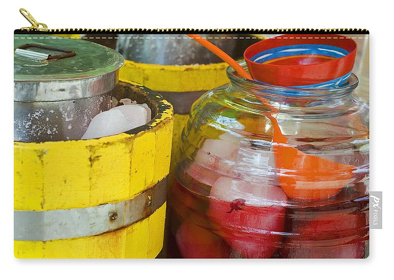 Beverage Carry-all Pouch featuring the photograph Agua De Hamaica by Skip Hunt