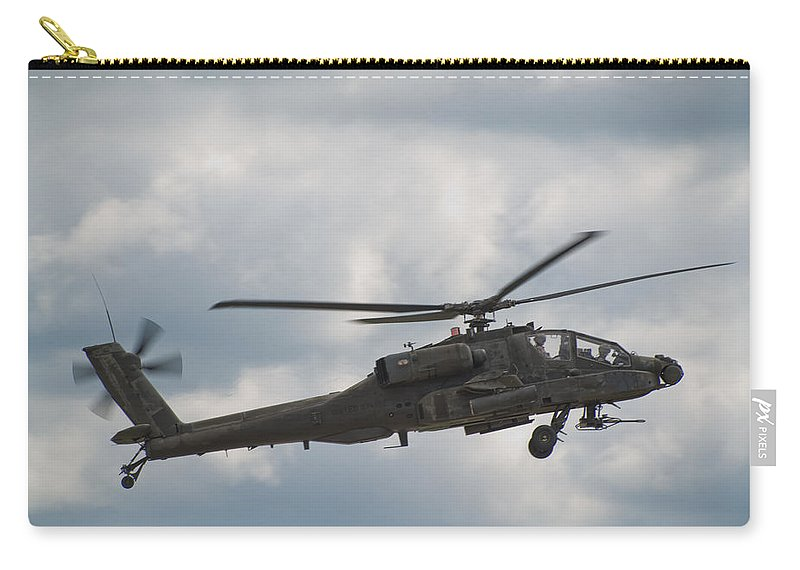 Helicopter Carry-all Pouch featuring the photograph Ah-64 Apache by Sebastian Musial